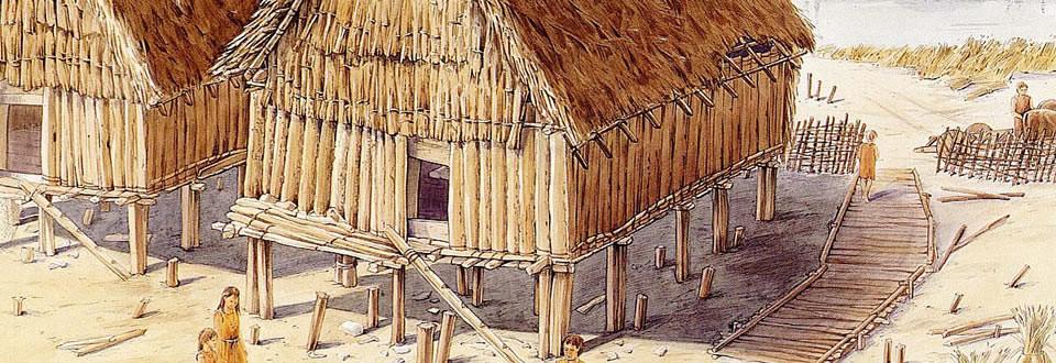 Il villaggio neolitico e le strutture pal di livenza for Grandi capanne di tronchi